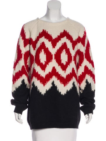Prada Intarsia Knit Sweater None