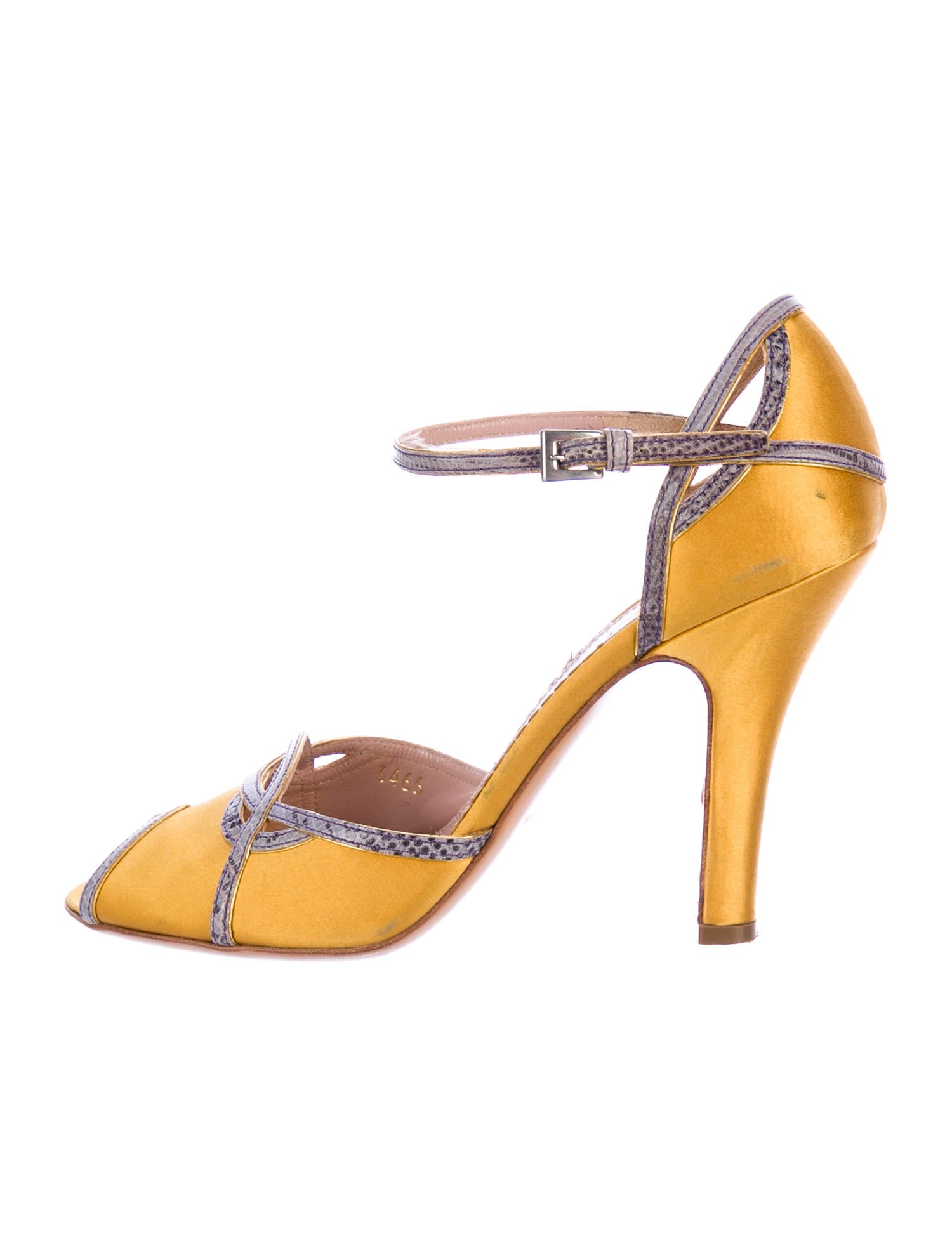 cheap newest original for sale Prada Lizard-Trimmed Satin Pumps cheap discount authentic great deals 4IVqogN