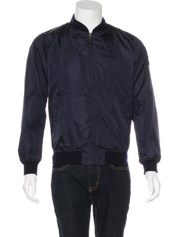 Prada Wool-Trimmed Bomber Jacket None