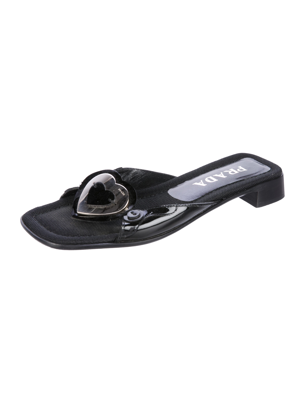 Prada Heart Slide Sandals best deals pWh15fDSTN