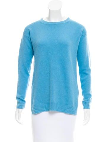 Prada Slit-Accented Crew Neck Sweater None