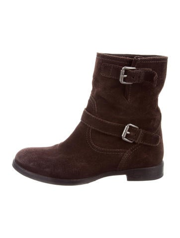 Prada Suede Moto Ankle Boots sale for cheap cheap sale 100% guaranteed clearance Inexpensive outlet 2015 new sale purchase CkNHoW6mv