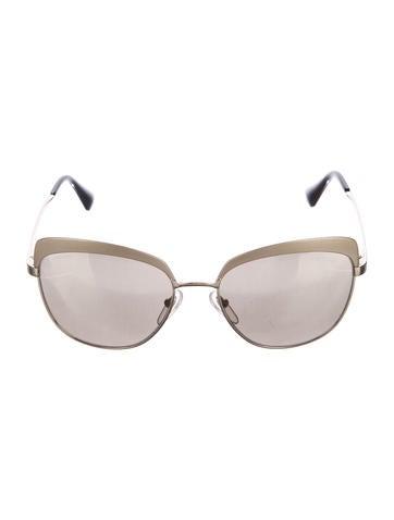 Prada Mirrored Oversize Sunglasses None