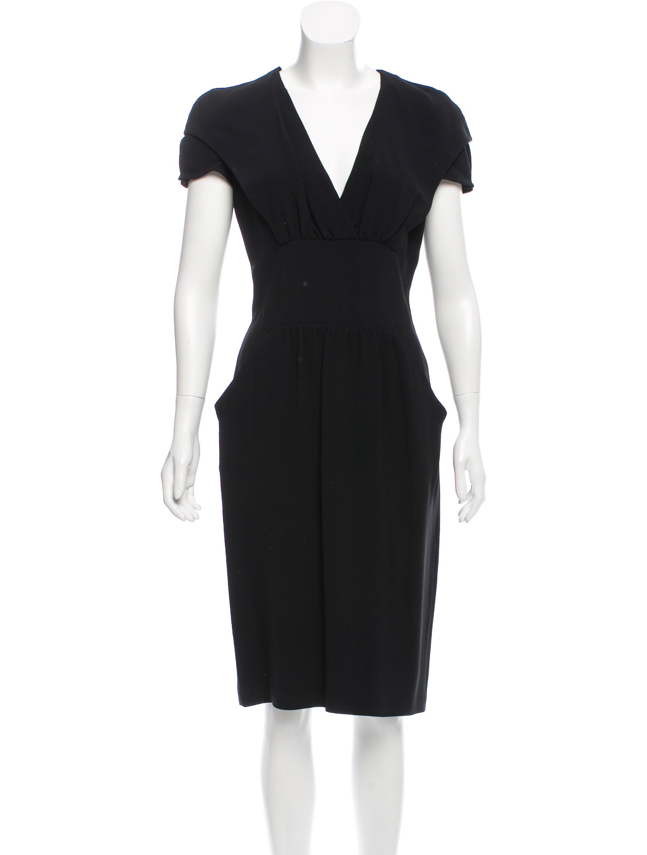Cap Sleeve Midi Dress Prada iHQ7X2