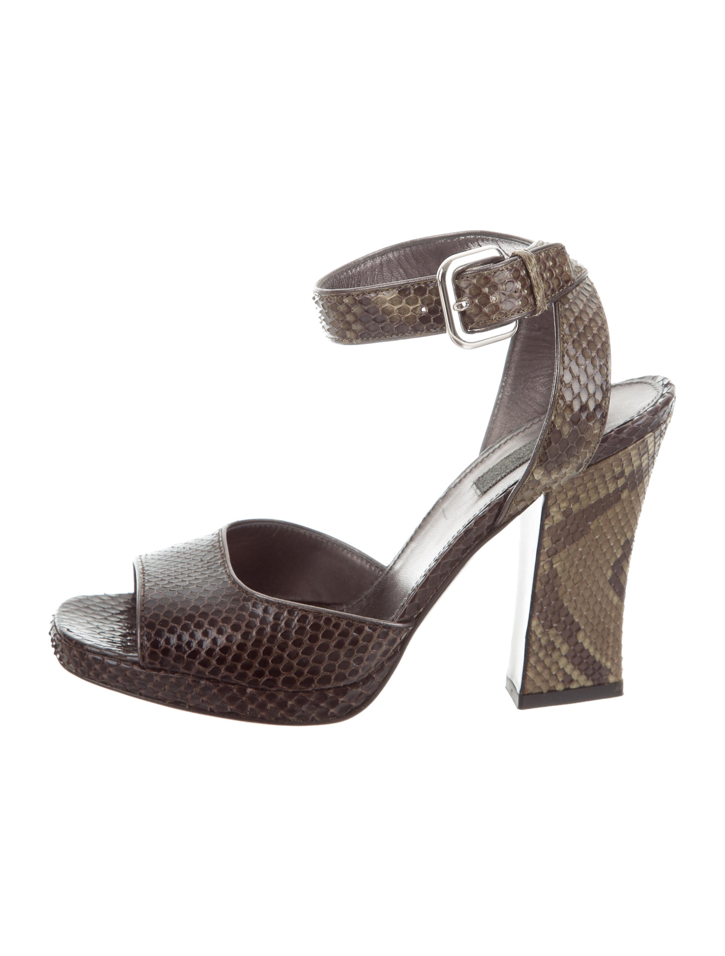 outlet wide range of under $60 for sale Prada Snakeskin T-Strap Sandals free shipping sale pkHBS1nWm