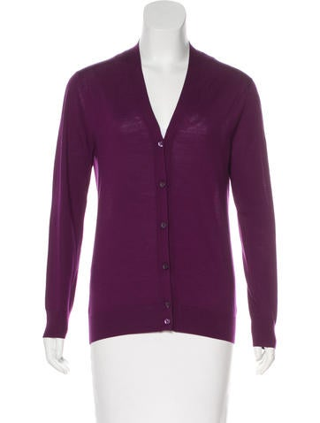 Prada Wool V-Neck Cardigan None