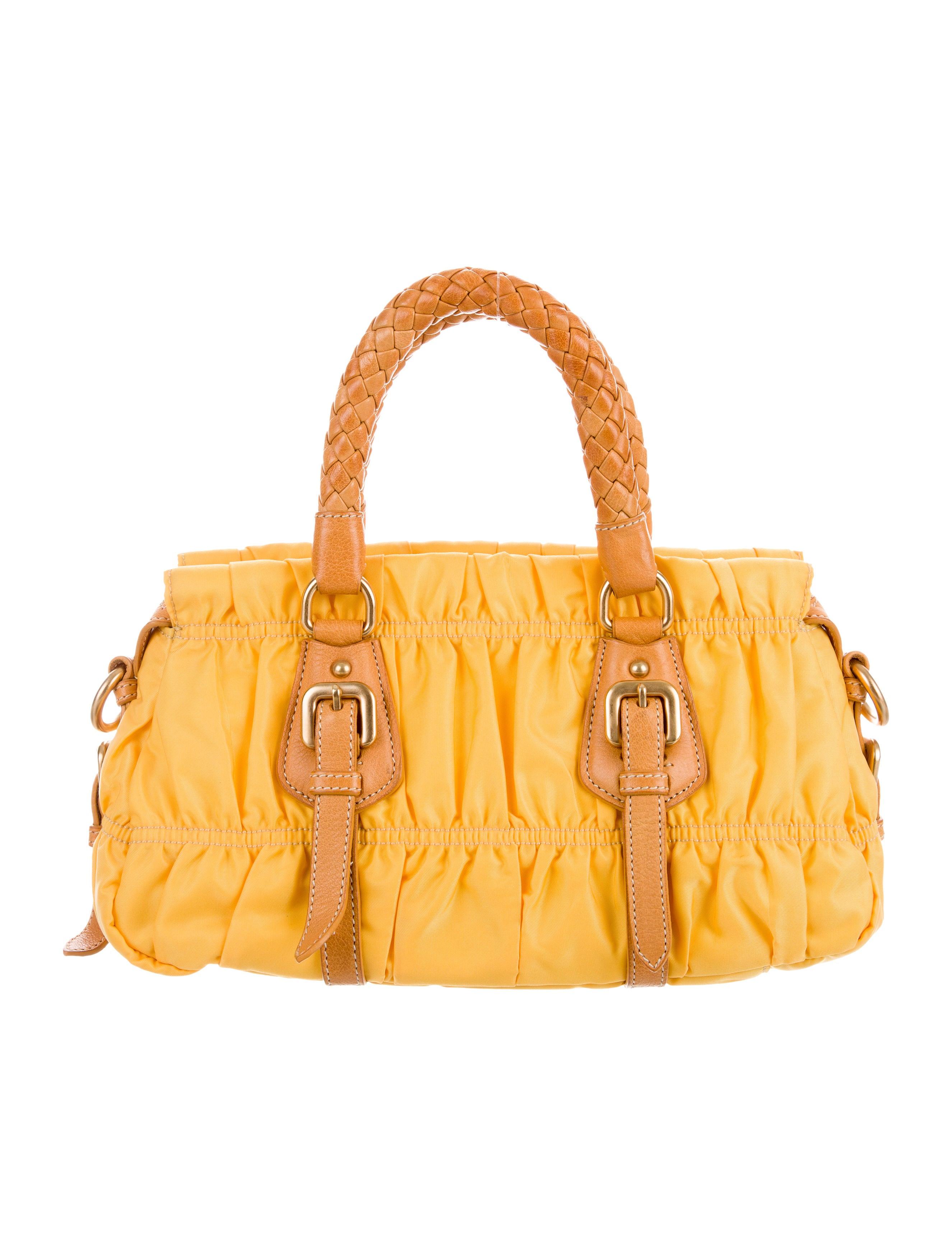 306b94110a66 Prada Tessuto Gaufre Satchel - Handbags - PRA184352   The RealReal