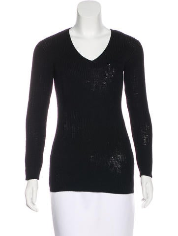 Prada Knit V-Neck Top None