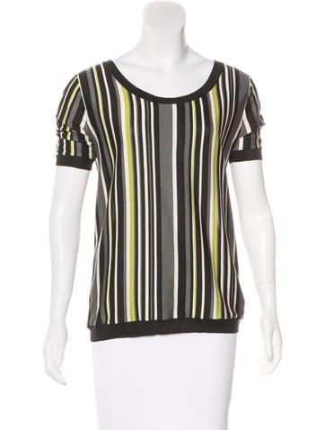 Prada Striped Knit Top None