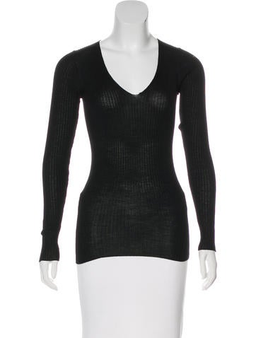 Prada Rib Knit Top None
