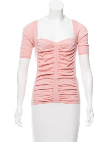 Prada Ruched Knit Top None