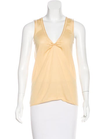 Prada Knit Sleeveless Top None