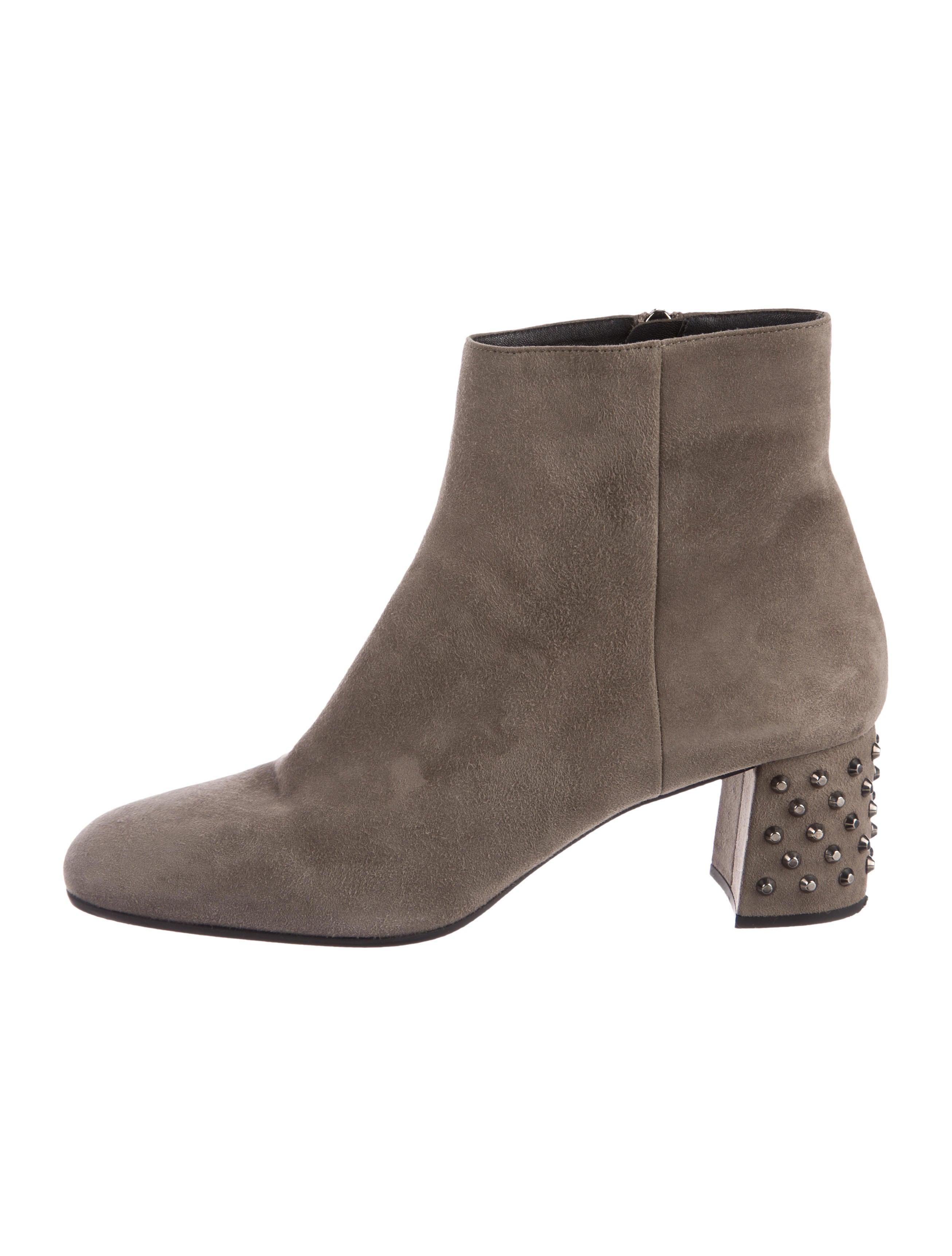 Prada Suede Studded Ankle Boots cheap sale hot sale shop cheap online FbxT3C