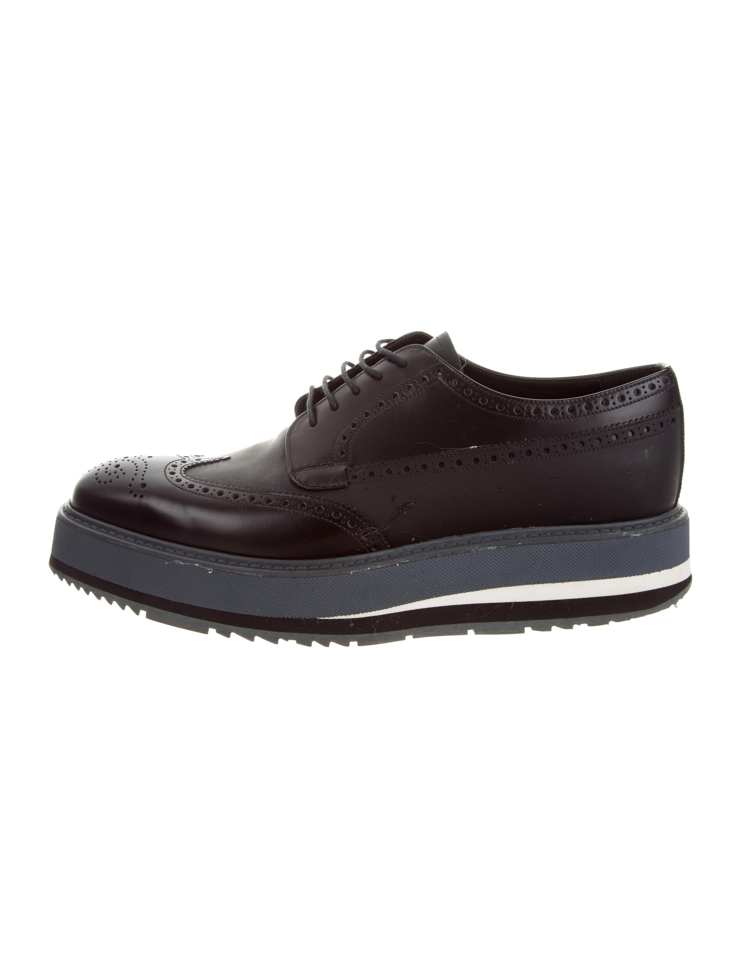 77a6f00475 Prada Platform Leather Derby Shoes - Shoes - PRA185597