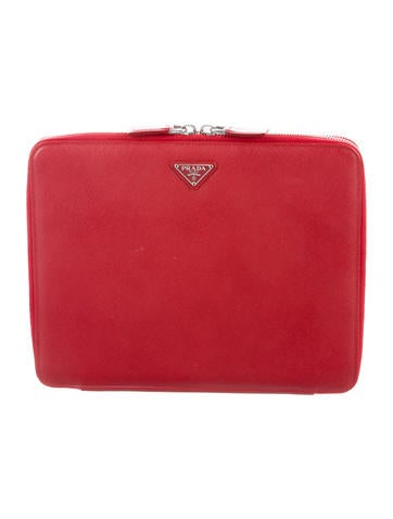 Prada Saffiano Travel iPad Case None