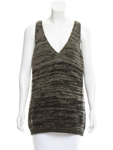 Prada Sleeveless Rib Knit Sweater None