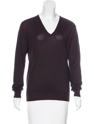 Prada Long Sleeve Knit Top None