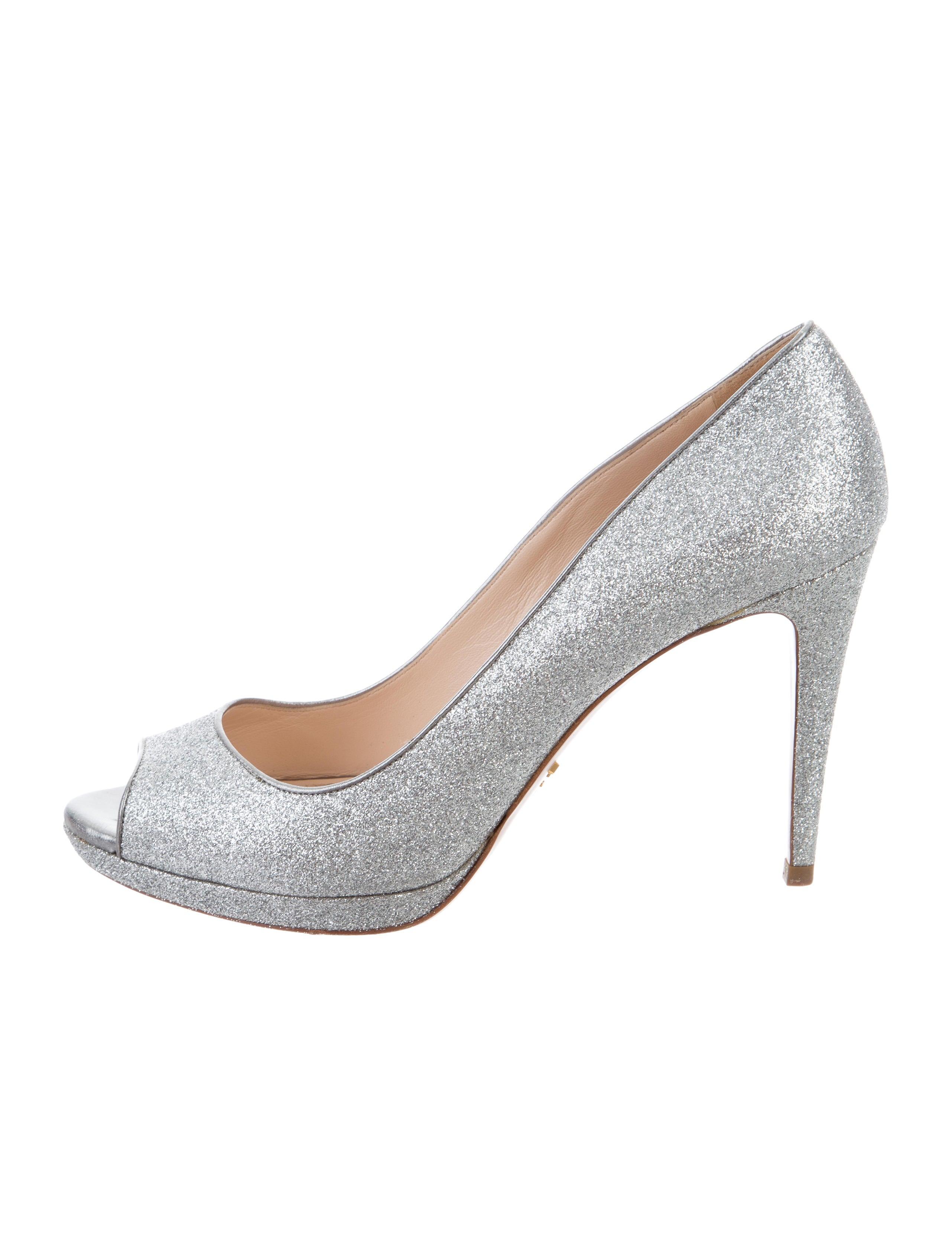 cheap price wholesale browse cheap price Prada Glitter Peep-Toe Pumps cheap top quality d1jzWe