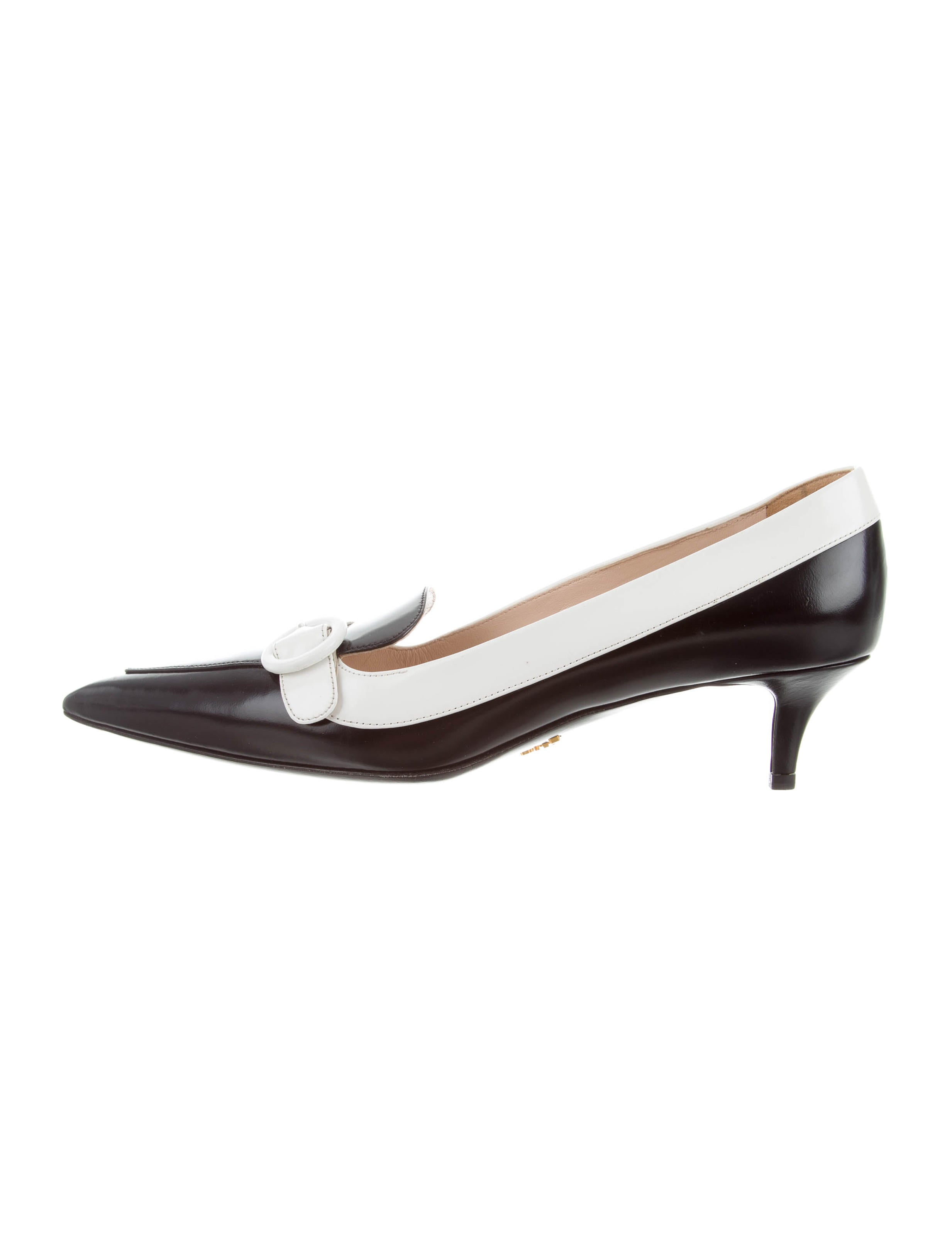 looking for for sale sale 100% original Prada Pointed-Toe Leather Pumps w/ Tags store with big discount mJ5vRH