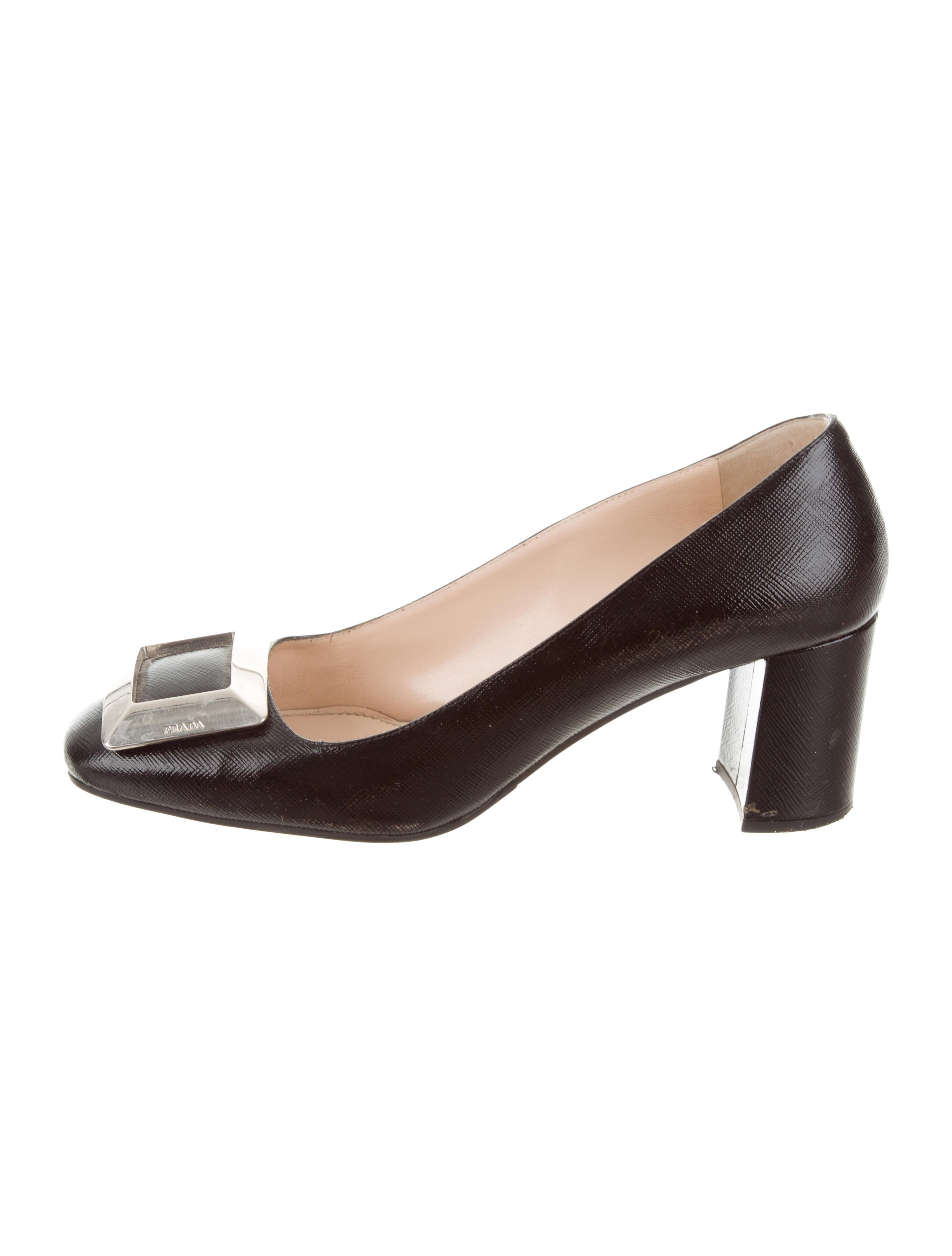 popular cheap online finishline cheap online Prada Embellished Square-Toe Pumps sale low cost outlet free shipping fl3MVYjbH