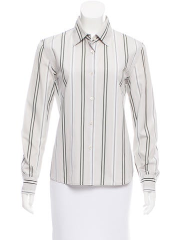 Prada Striped Button-Up Top None