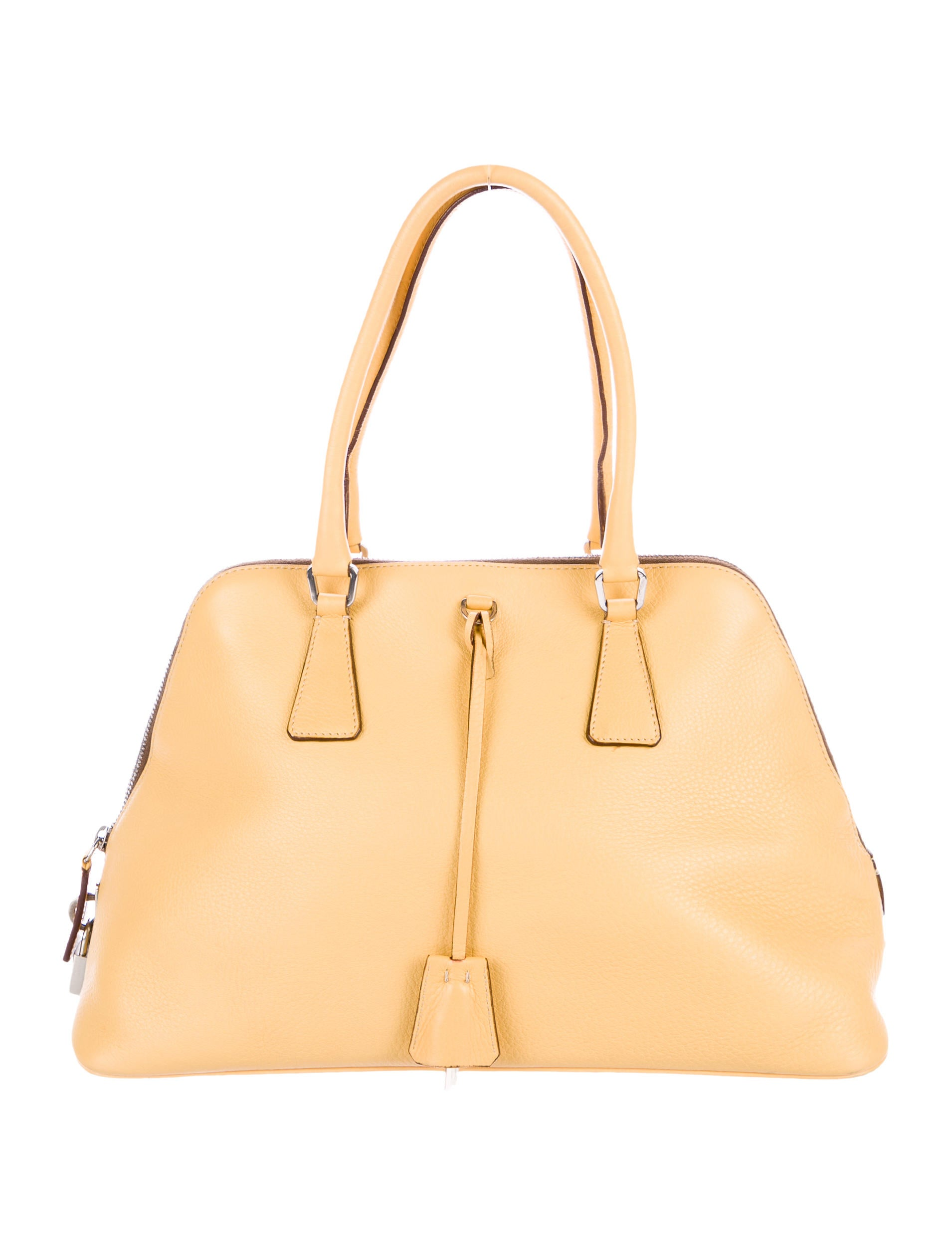 63a1db561d66 Prada Vitello Daino Dome Shoulder Bag - Handbags - PRA186872