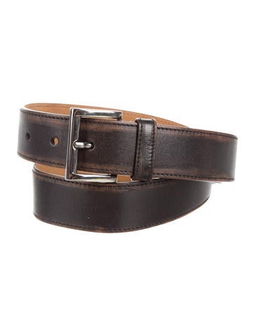 Prada Distressed Leather Belt None