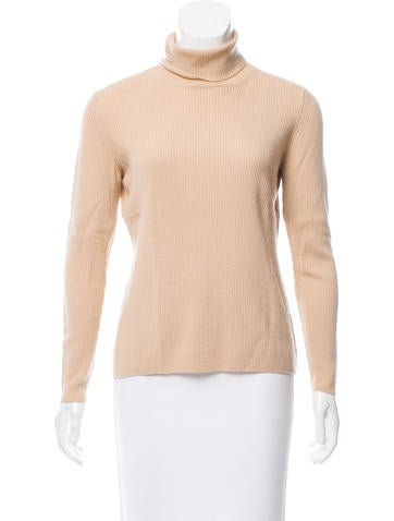 Prada Rib Knit Turtleneck Sweater None
