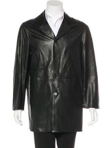 Prada Leather Car Coat None