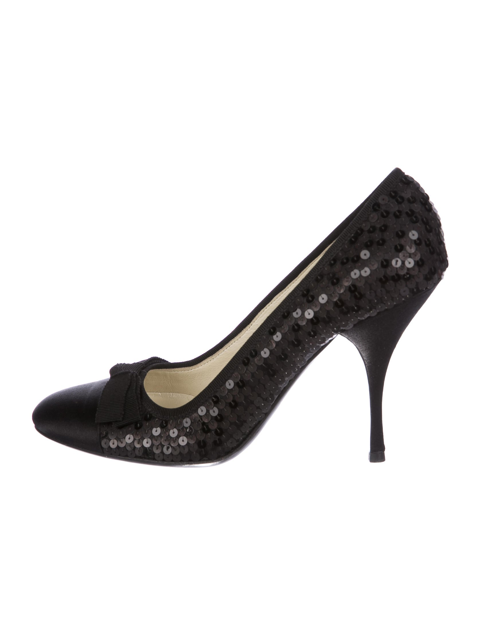 Prada Sequin Round-Toe Pumps cheap order PEXlymun