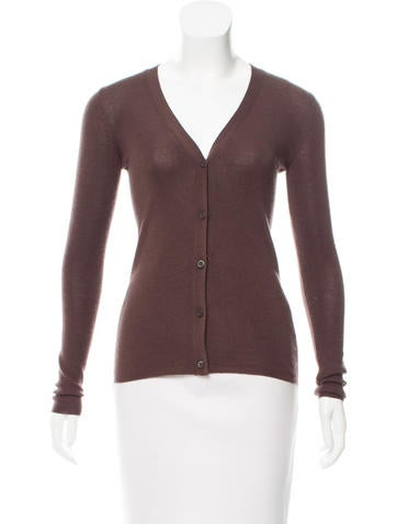 Prada Cashmere & Silk Cardigan None