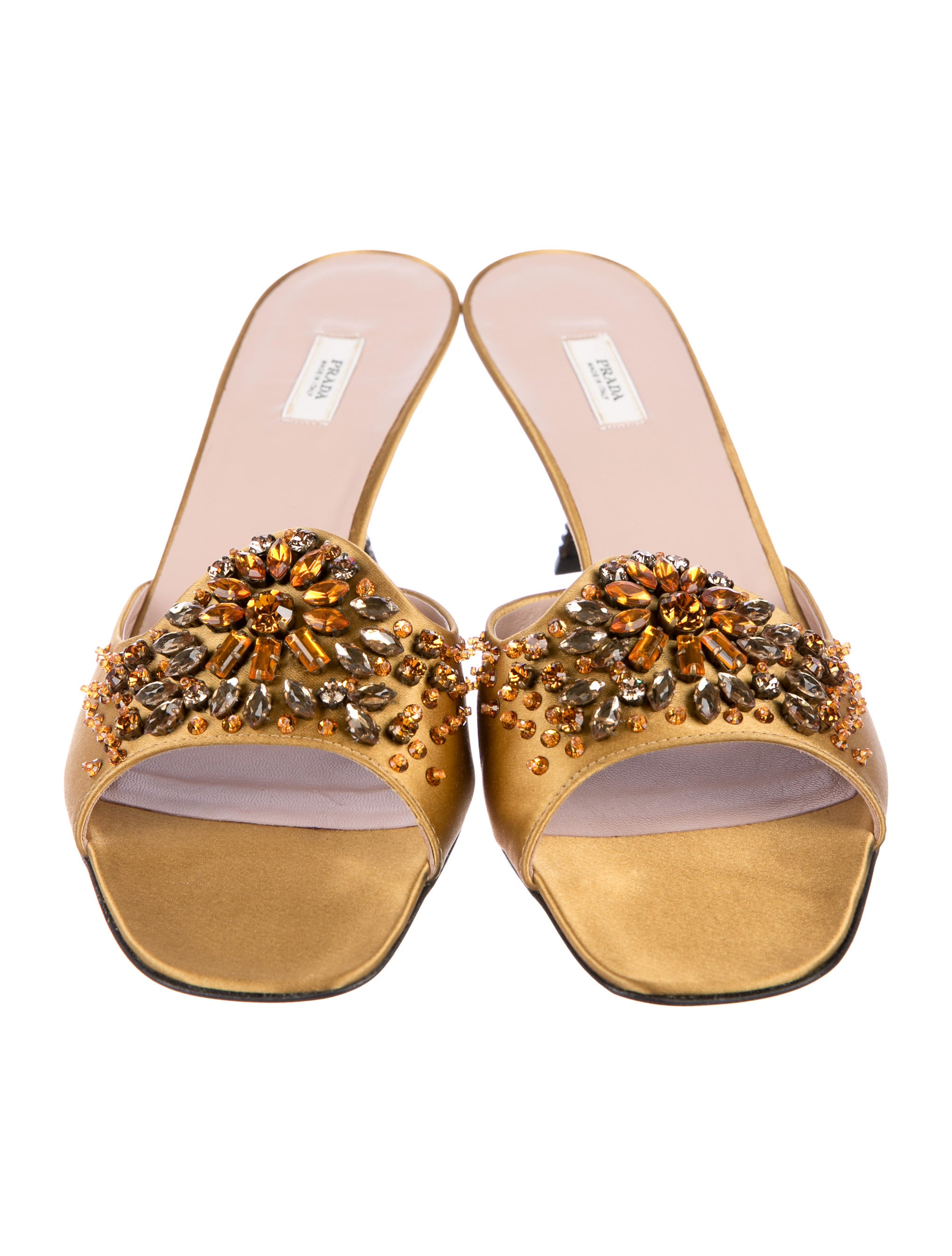 outlet release dates cheap affordable Prada Embellished Slide Sandals w/ Tags xoVbfOoQh