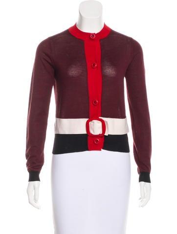 Prada Wool Button-Up Cardigan None