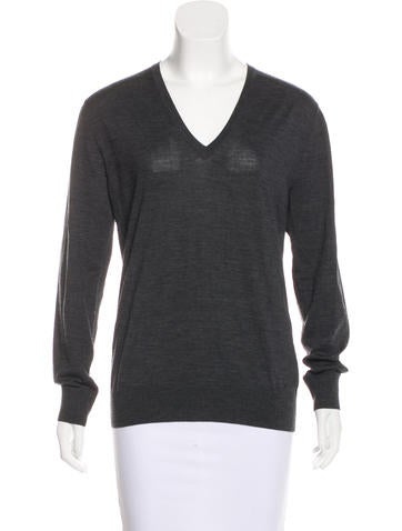 Prada Wool V-Neck Sweater None
