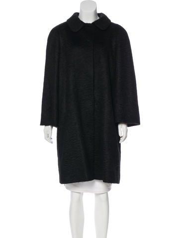 Prada Mohair Long Coat None