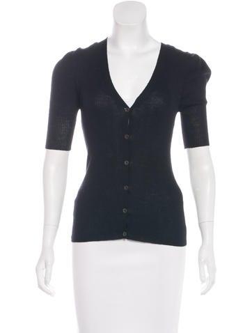 Prada Wool Three-Quarter Sleeve Cardigan None