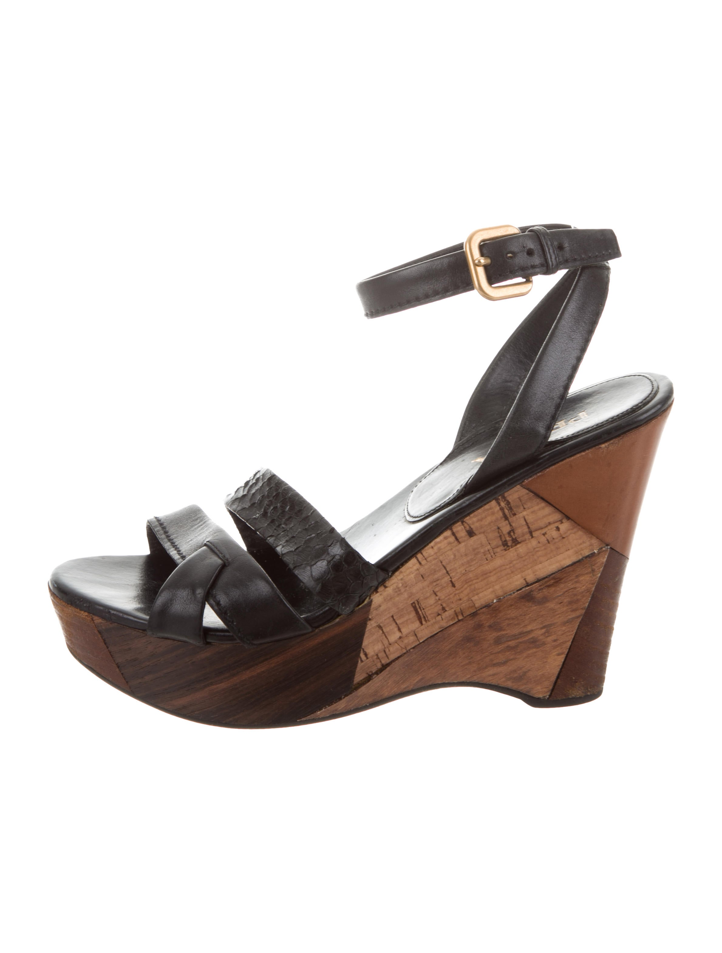many kinds of sale online outlet cheap Prada Snakeskin Multistrap Wedges collections for sale qHQpJmpcA