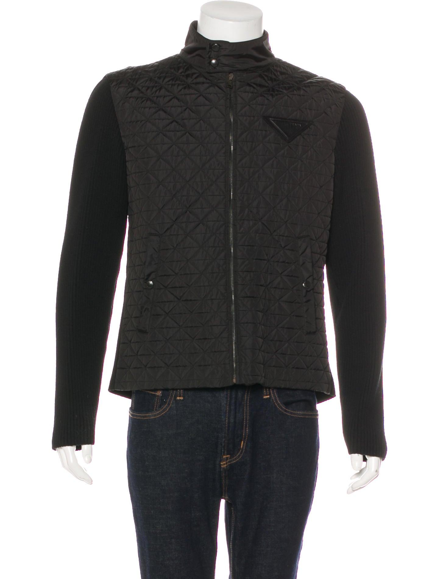 Prada Quilted Wool Jacket Clothing Pra189548 The