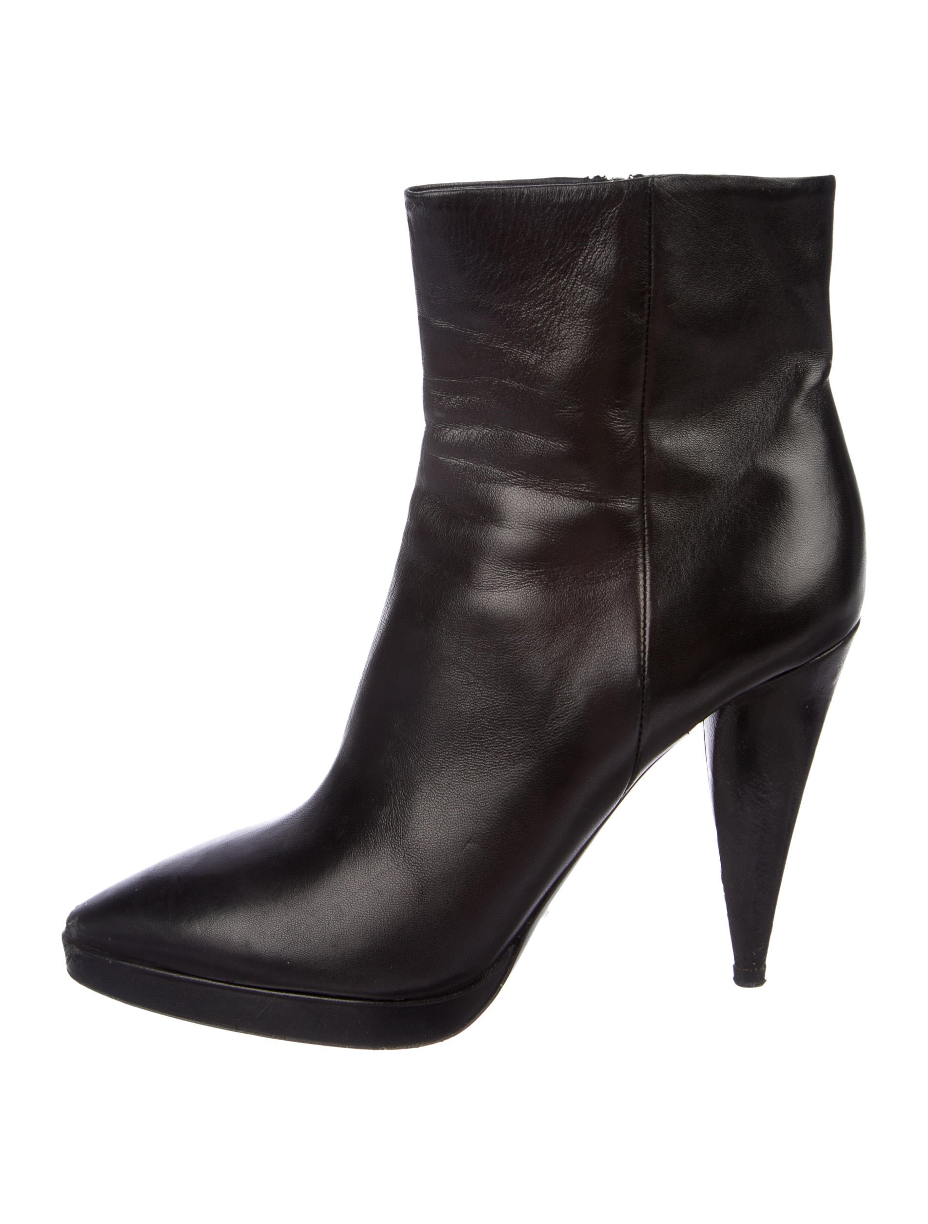 Prada Leather Pointed-Toe Ankle Boots good selling cheap price outlet with paypal order online cheap sale 100% original discount high quality in China cheap price FaPLARoZ