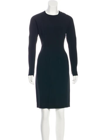 A-Line Knee-Length Dress