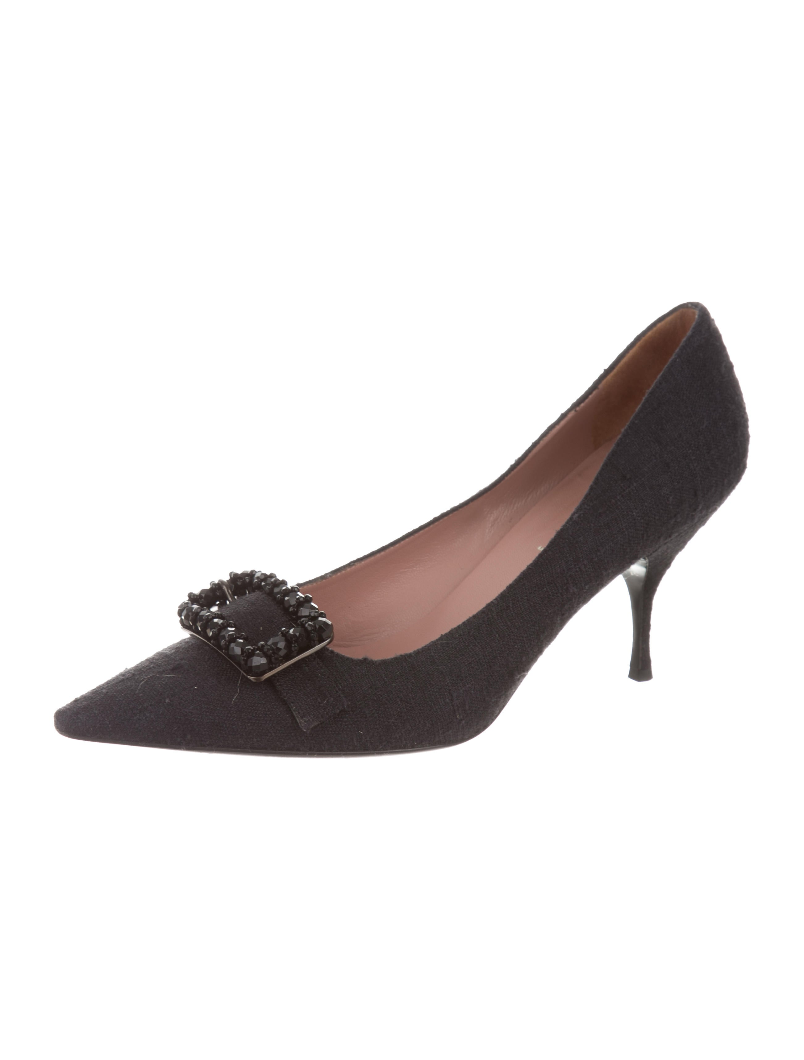 visit online Prada Suede Buckle Accented Pumps outlet hot sale cheap top quality uK3FQ