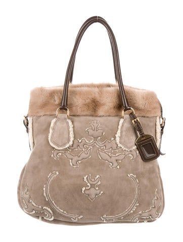 Mink & Shearling Tote
