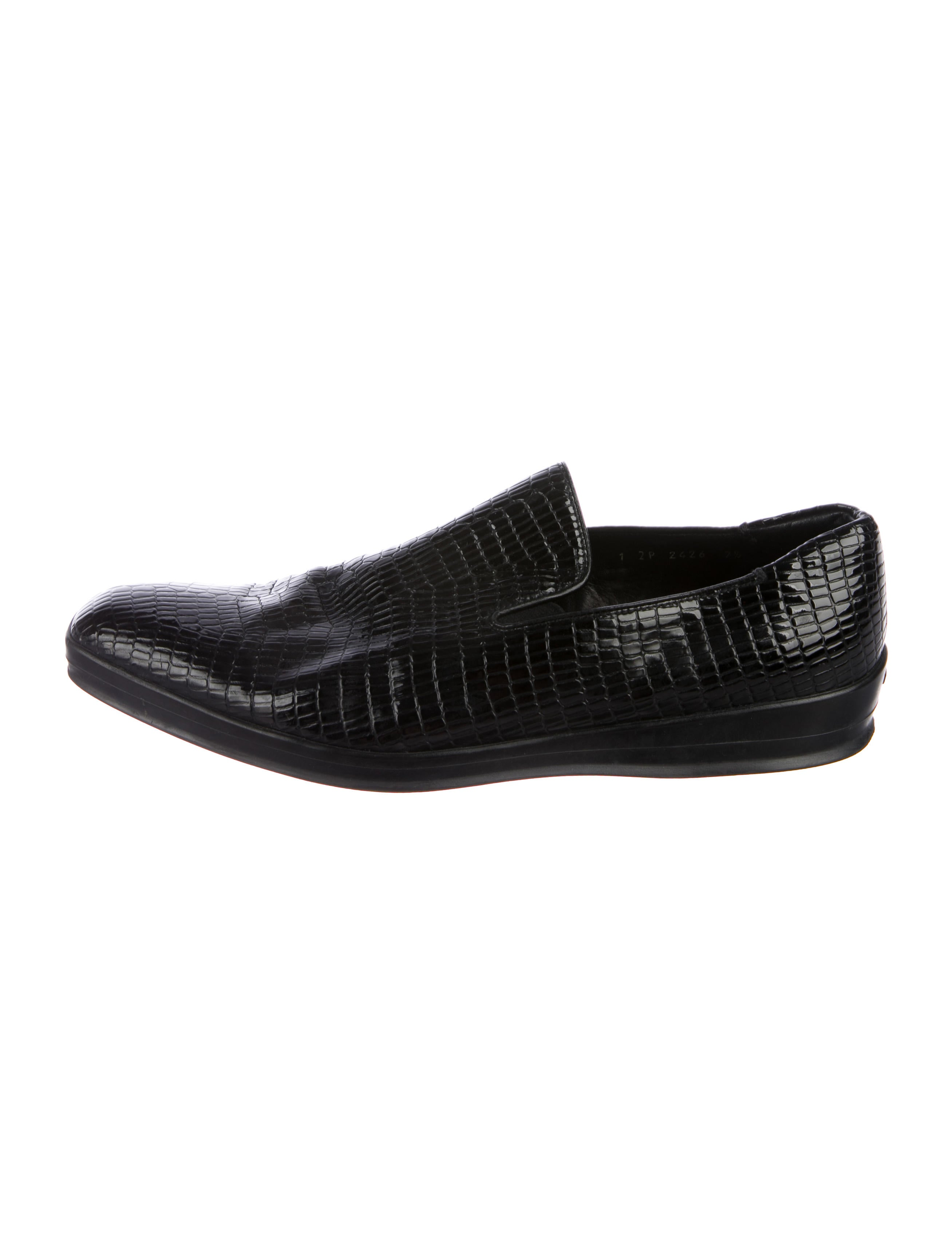 cheap price discount authentic Prada Embossed Round-Toe Loafers buy cheap shop x2SShv