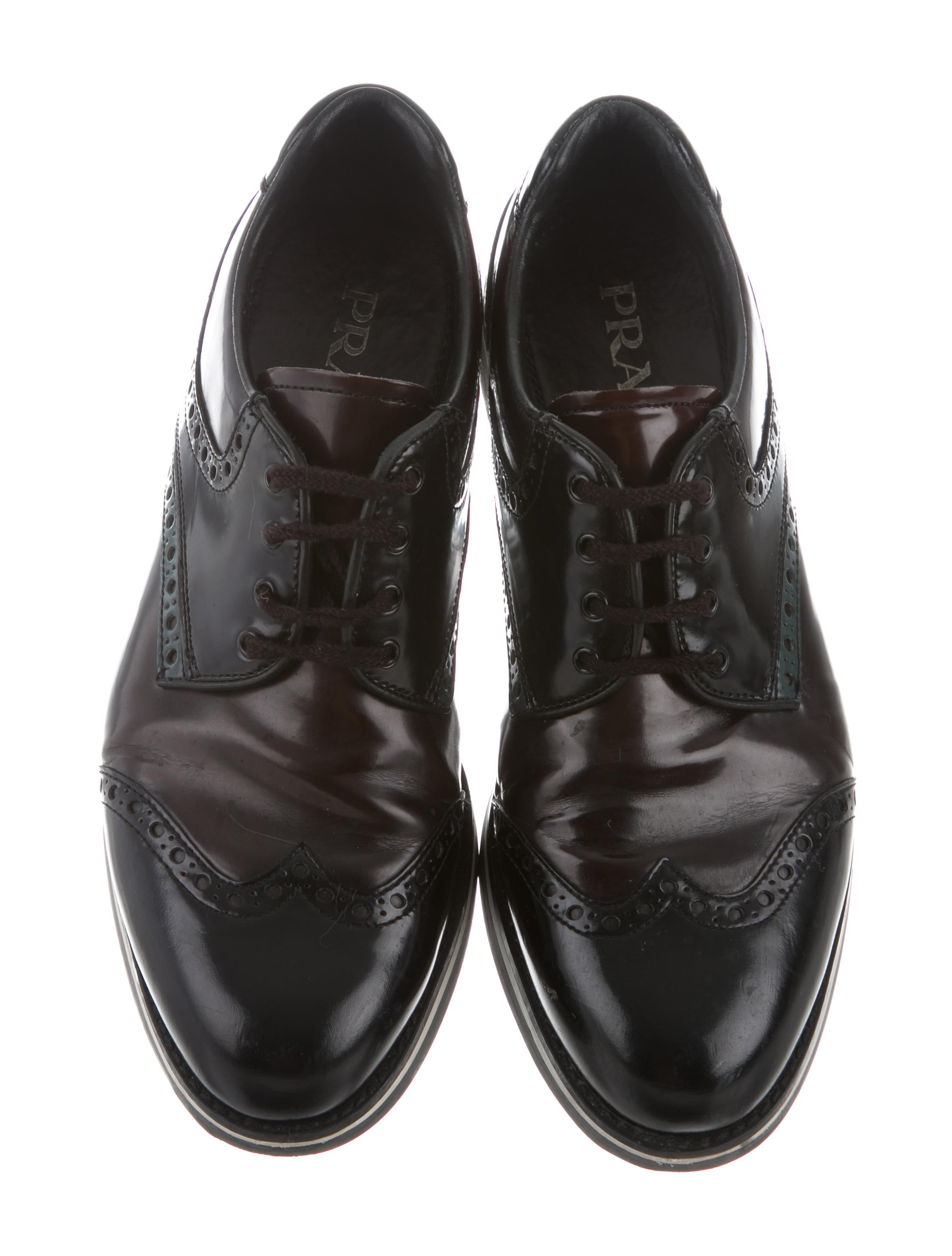 Prada Brogue Lace-Up Oxfords clearance outlet store 2014 newest cheap price great deals for sale best seller JN5PMmiYF