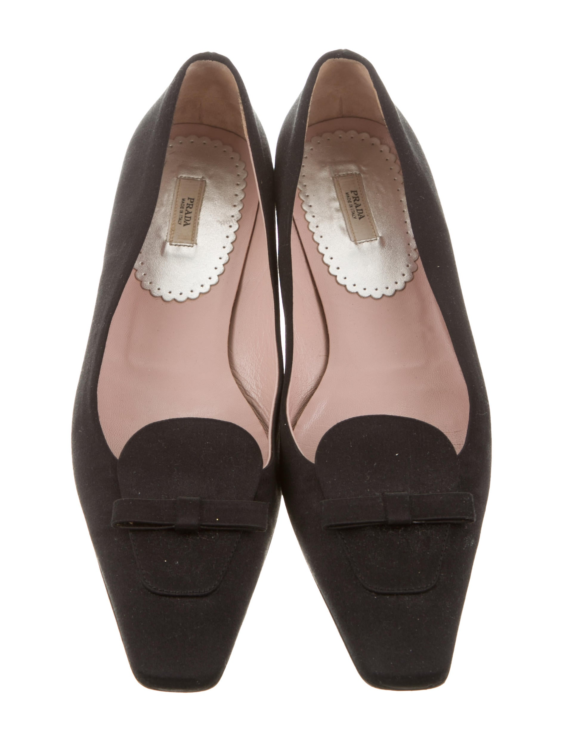 Prada Satin Square-Toe Flats for nice for sale really cheap online affordable online outlet real outlet for cheap 2nwF1CYlF