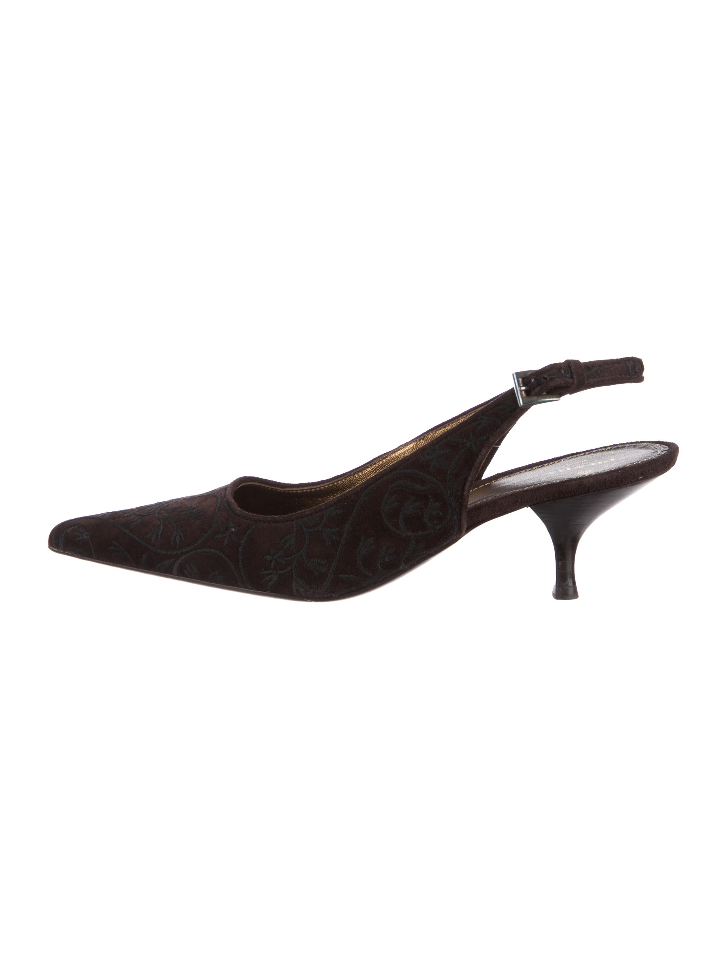 choice cheap online big discount sale online Prada Embroidered Suede Pumps discount factory outlet VMRrRA93