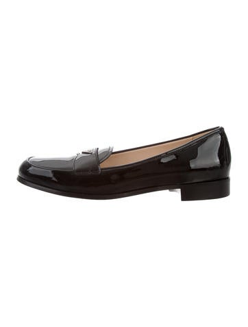 Prada Leather Logo Loafers w/ Tags clearance tumblr discount from china sale tumblr VMuCqe1o