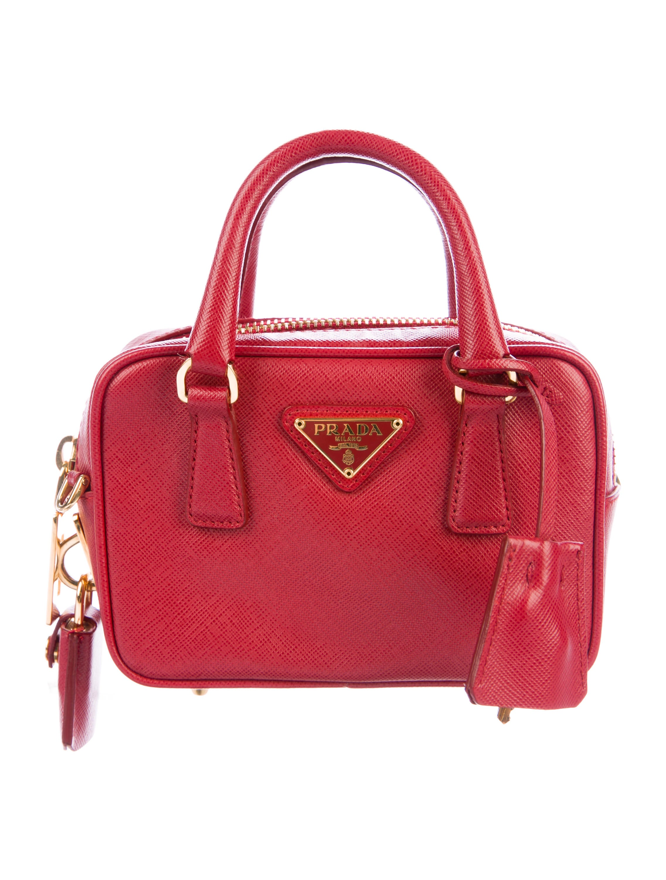 ed4ac08223 Prada Saffiano Lux Mini Bauletto Bag - Handbags - PRA192861