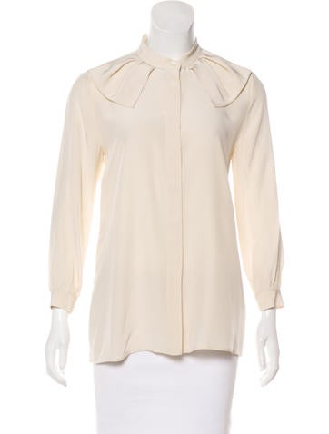Prada Silk Button-Up Top None