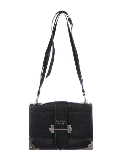 1befd47c644 Prada 2018 Glace Calf Cahier Shoulder Bag - Handbags - PRA193646 ...